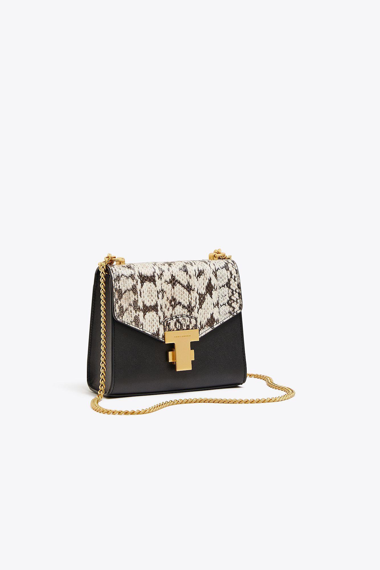 7269db1fb0e7e Tory Burch. Women s Black Juliette Exotic Chain Mini Bag ...