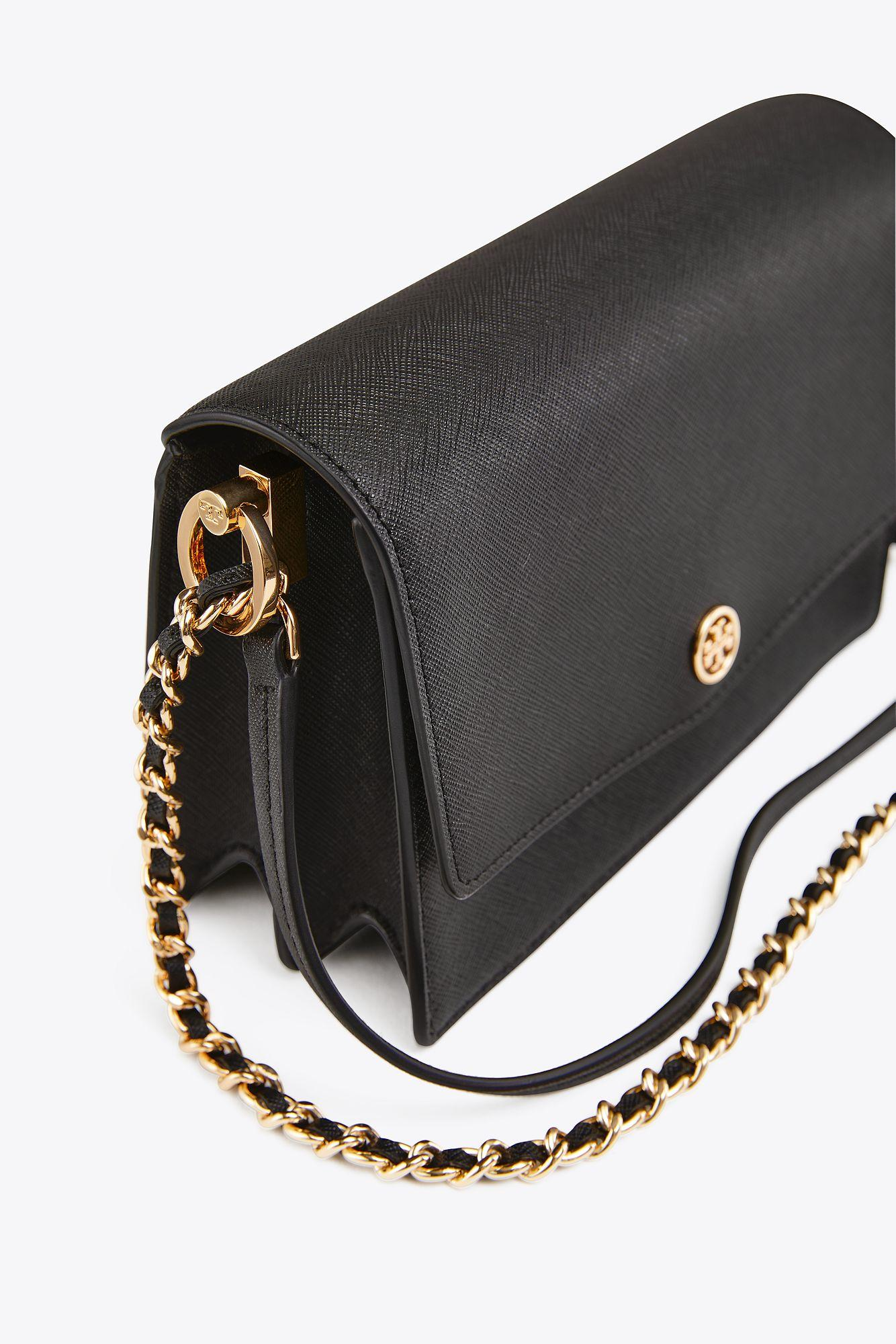 4000d2cd641 Tory Burch Robinson Convertible Mini Shoulder Bag in Black - Save 38 ...