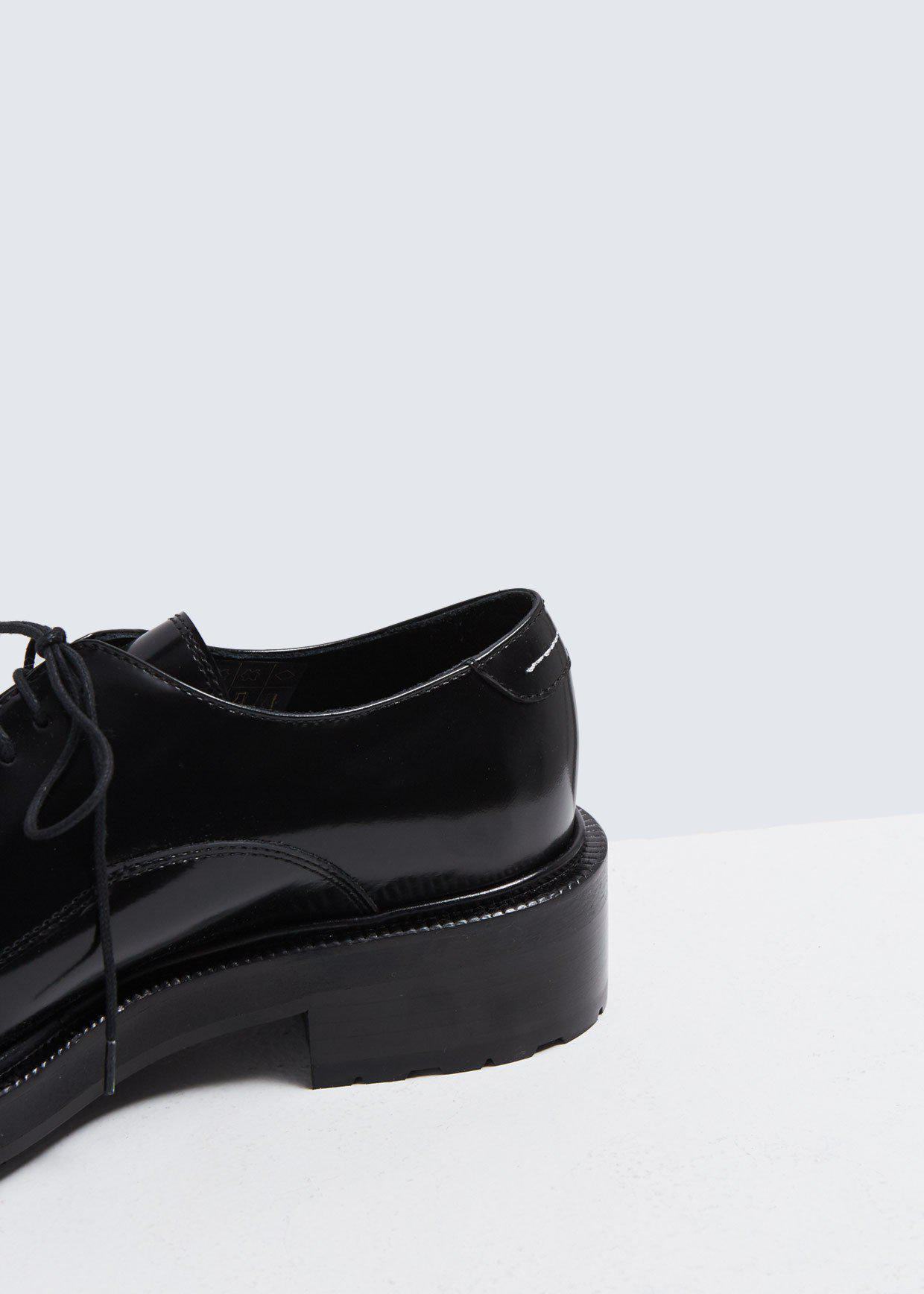 1c9bbddbf9f MM6 by Maison Martin Margiela - Black Lug Sole Oxford - Lyst. View  fullscreen