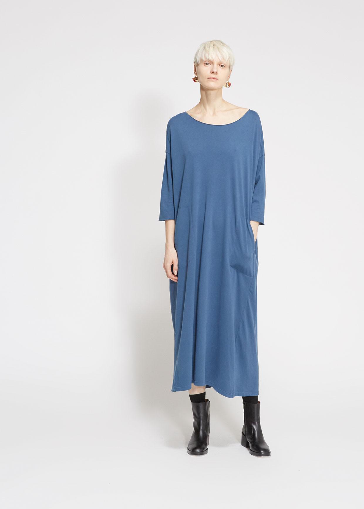 6285aa0659b532 Raquel Allegra Cocoon Dress in Blue - Lyst