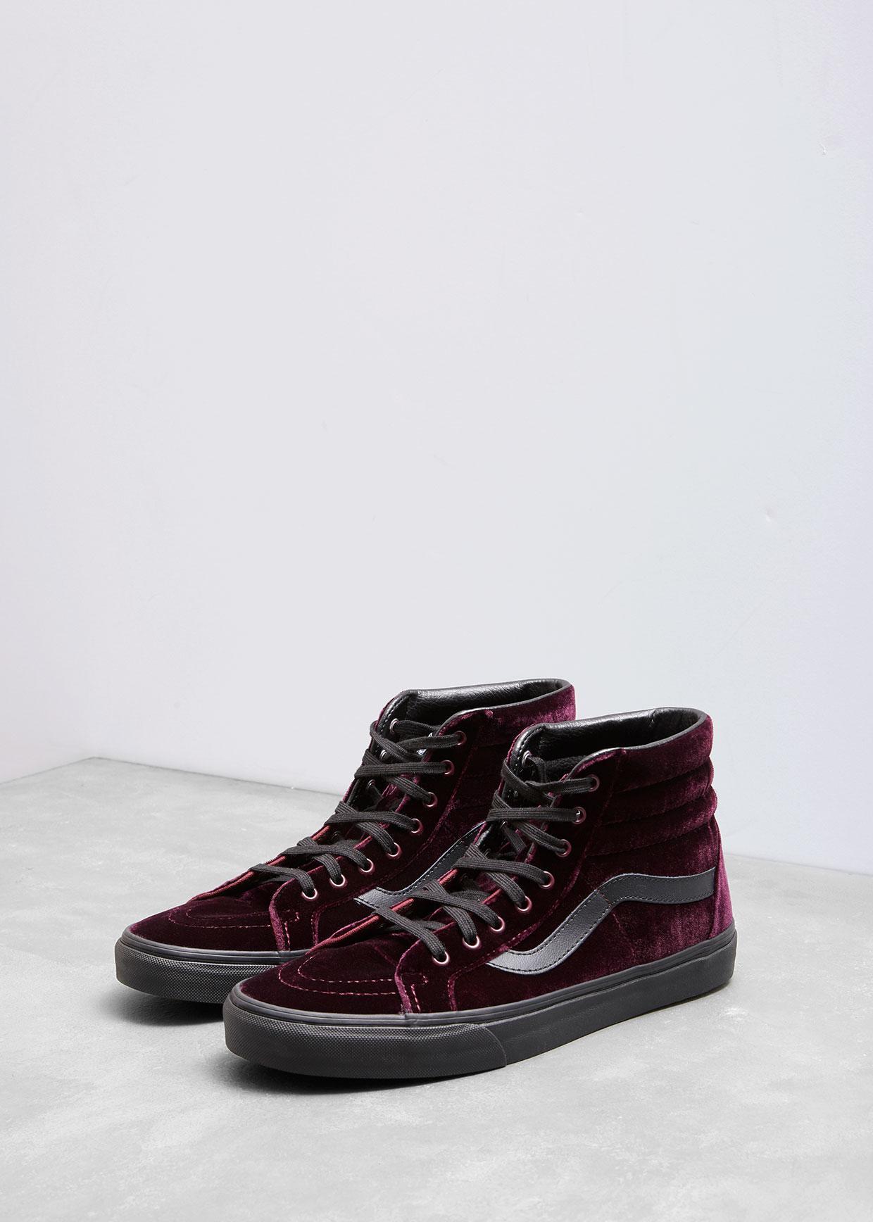 95a52295f6e Lyst - Vans Velvet Sk8-hi Reissue Sneakers for Men