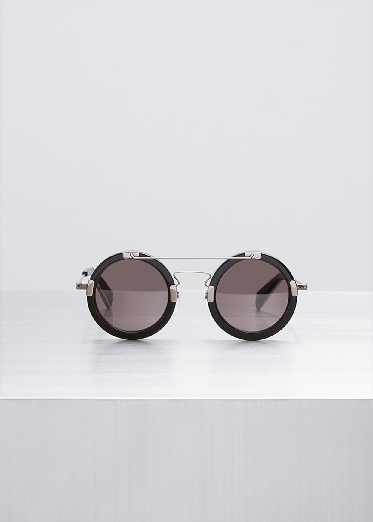 972a5ea563 Lyst - Yohji Yamamoto Black Aviator Round Sunglasses in Black
