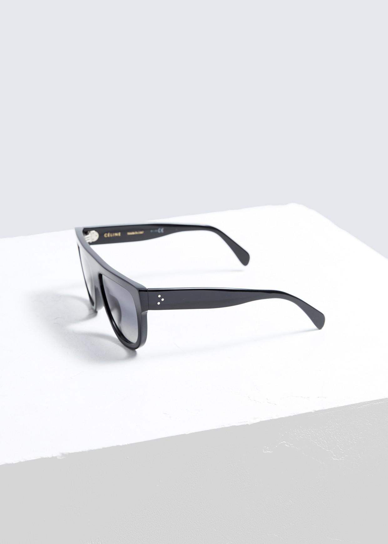 a5b561106c0 Céline - Black Square Aviator Sunglasses - Lyst. View fullscreen