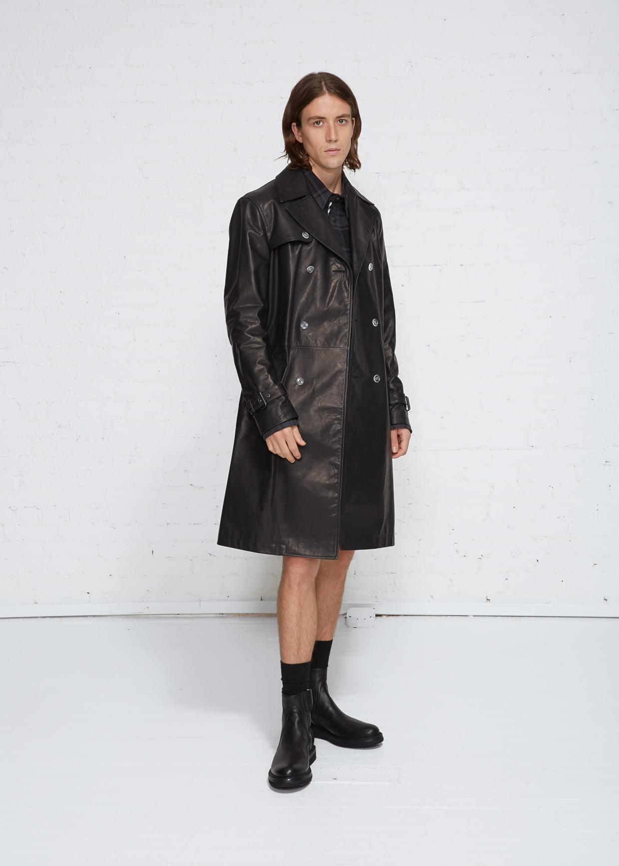 70d9be26bf4e Lyst - Off-White C O Virgil Abloh Blurred Trench in Black for Men