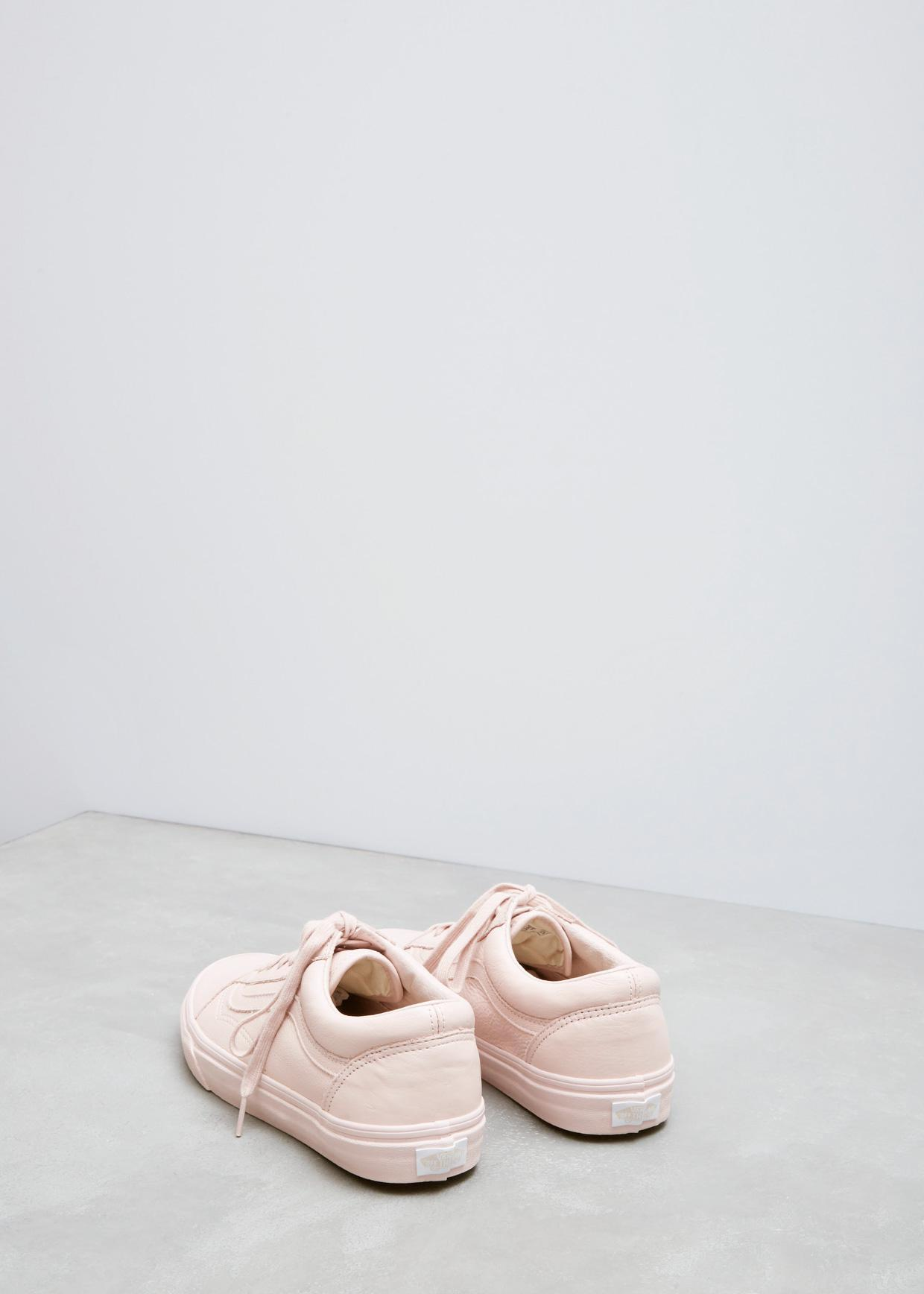 bbc6a29d9eb Lyst - Vans Sepia Rose Mono Leather Ua Old Skool in Pink