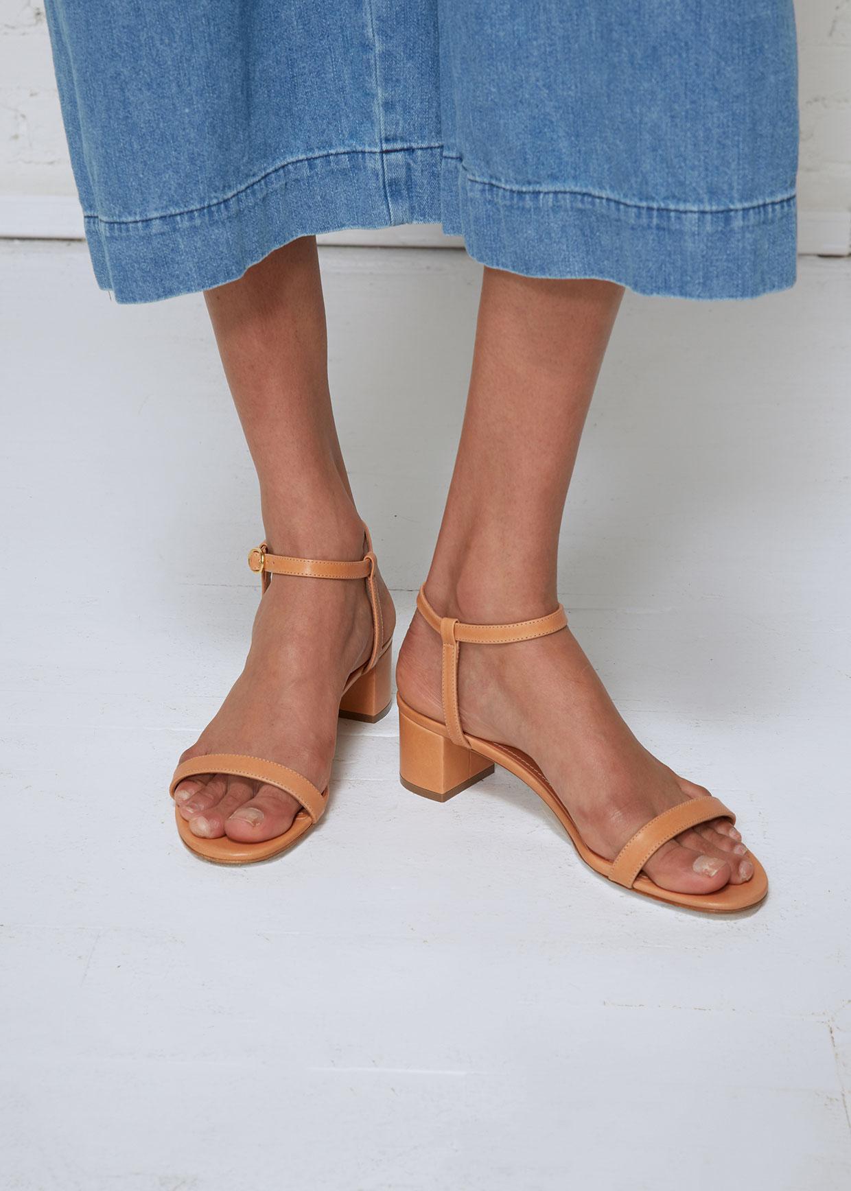 b199ebc9a9a8 Lyst - Mansur Gavriel Ankle Strap Sandal