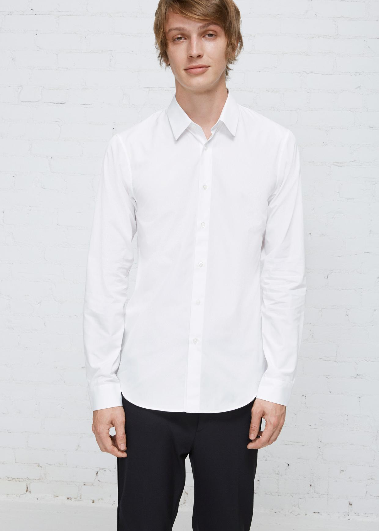lyst jil sander white baia shirt in white for men. Black Bedroom Furniture Sets. Home Design Ideas