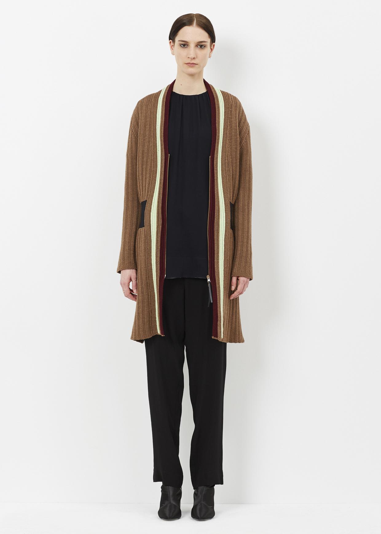 Duster Jacket Knitting Pattern : Marni Raw Sienna Knit Duster Coat Lyst