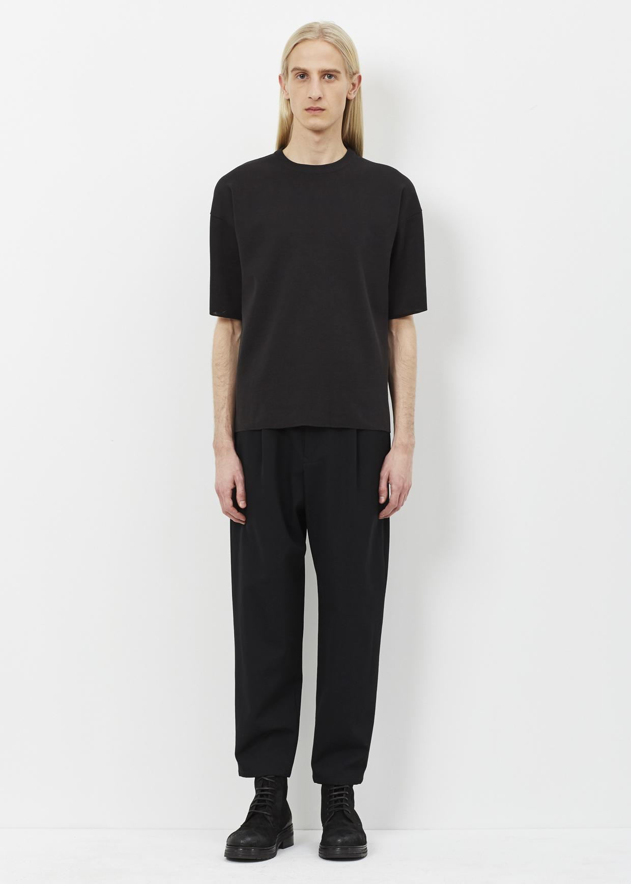 lyst jil sander black short sleeve crew in black for men. Black Bedroom Furniture Sets. Home Design Ideas