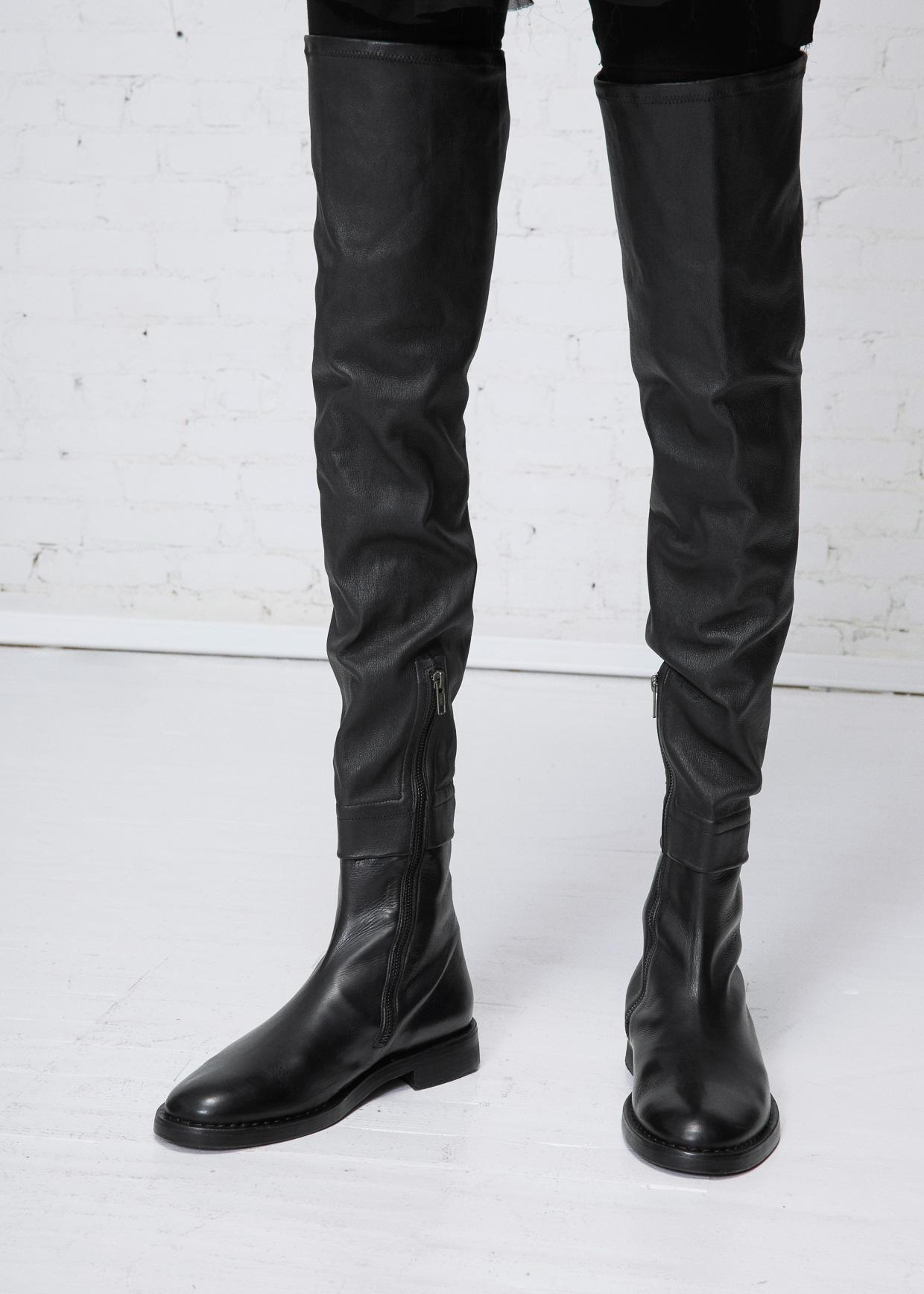 38a4388fe69 Ann Demeulemeester Over The Knee Flat Boot in Black - Lyst