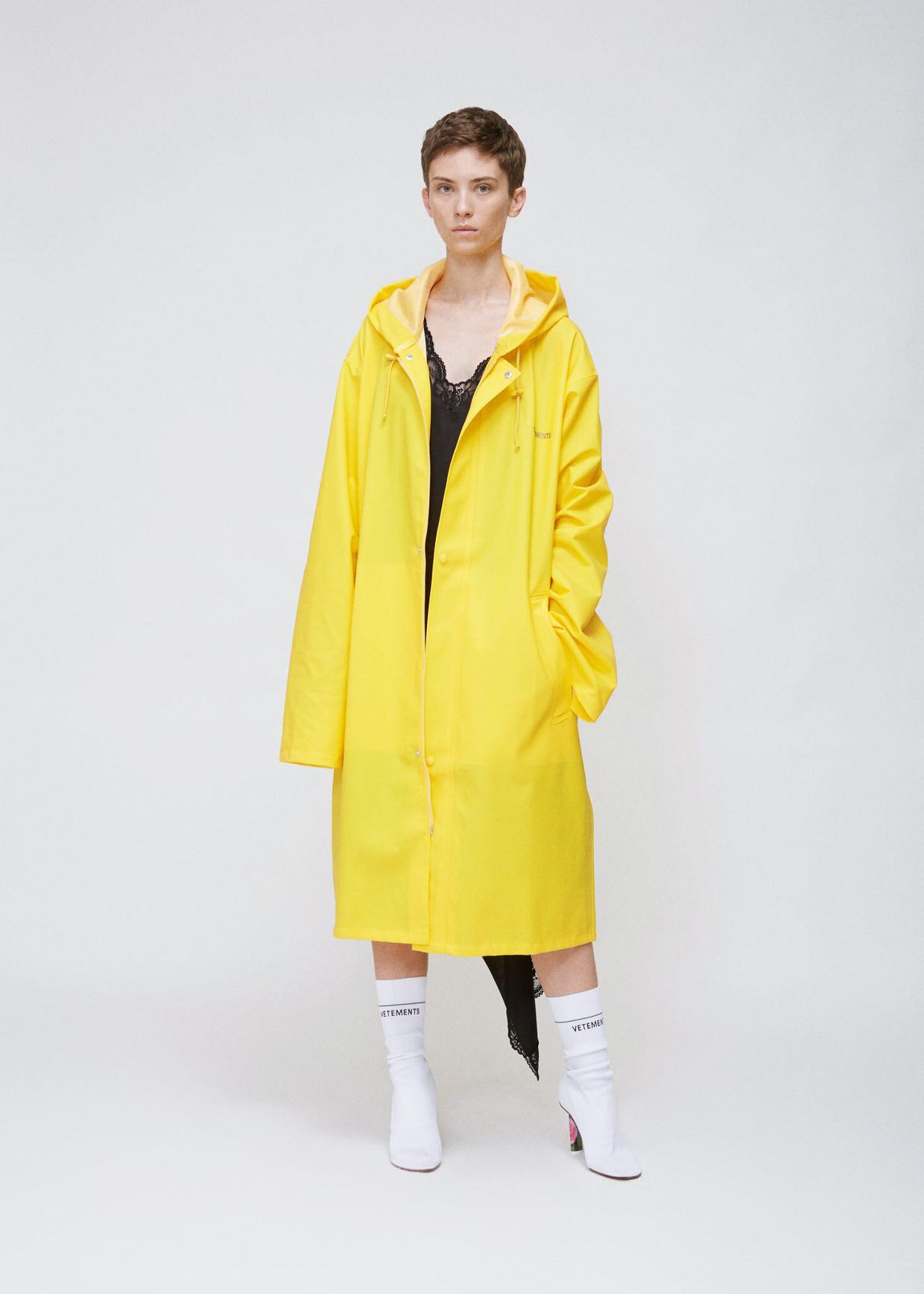 Vetements Yellow Raincoat In Yellow Lyst