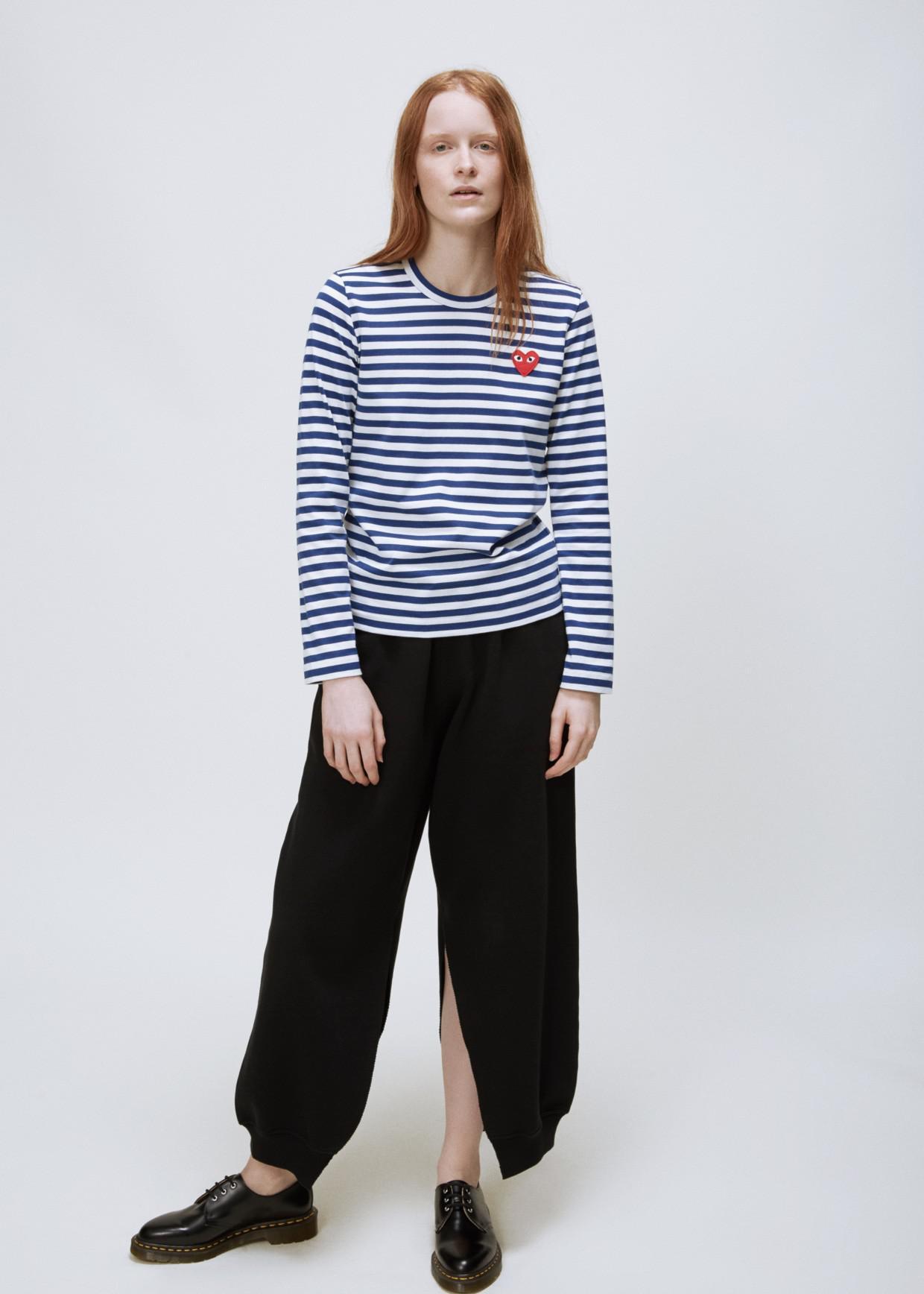 b7f6553be450 COMME DES GARÇONS PLAY - Blue White Stripe Striped T-shirt - Lyst. View  fullscreen