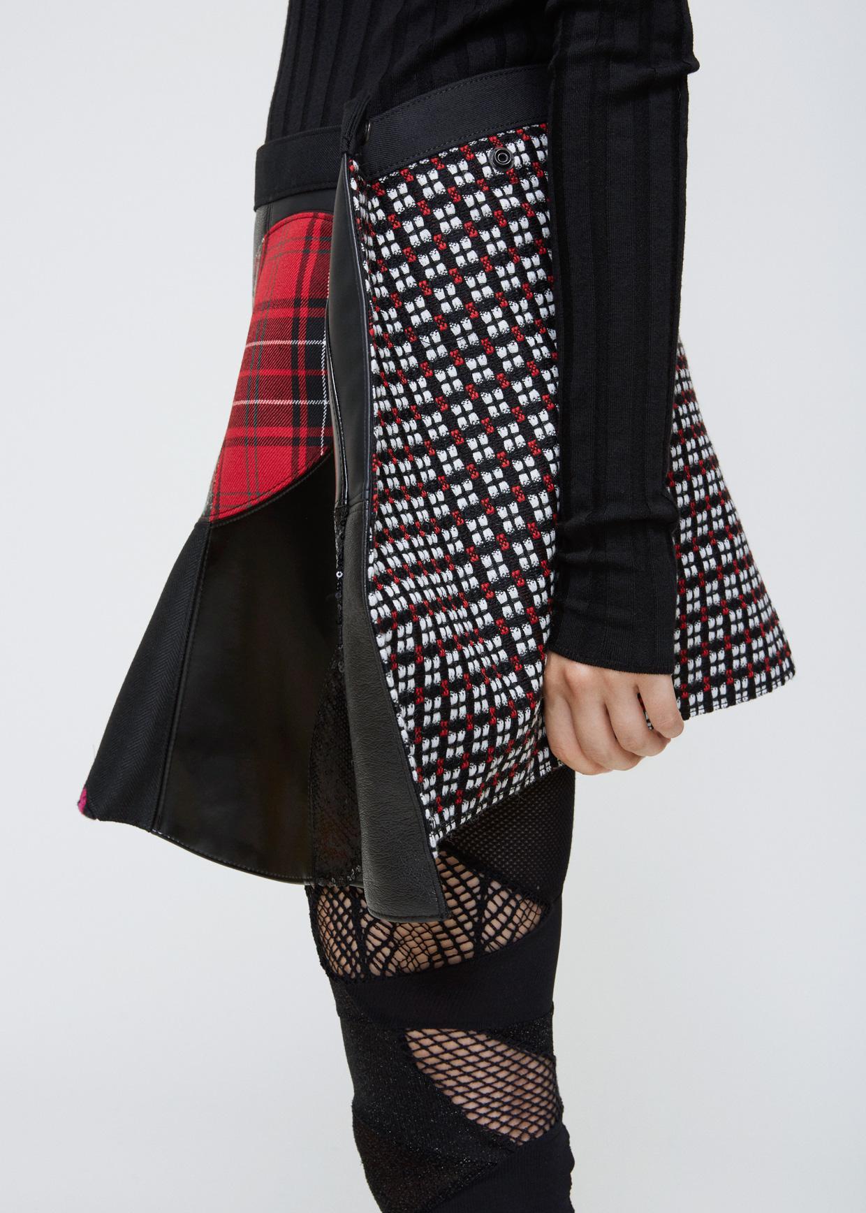 Lyst - Junya Watanabe Black Multi Geometric Knit Pattern Skirt in Black