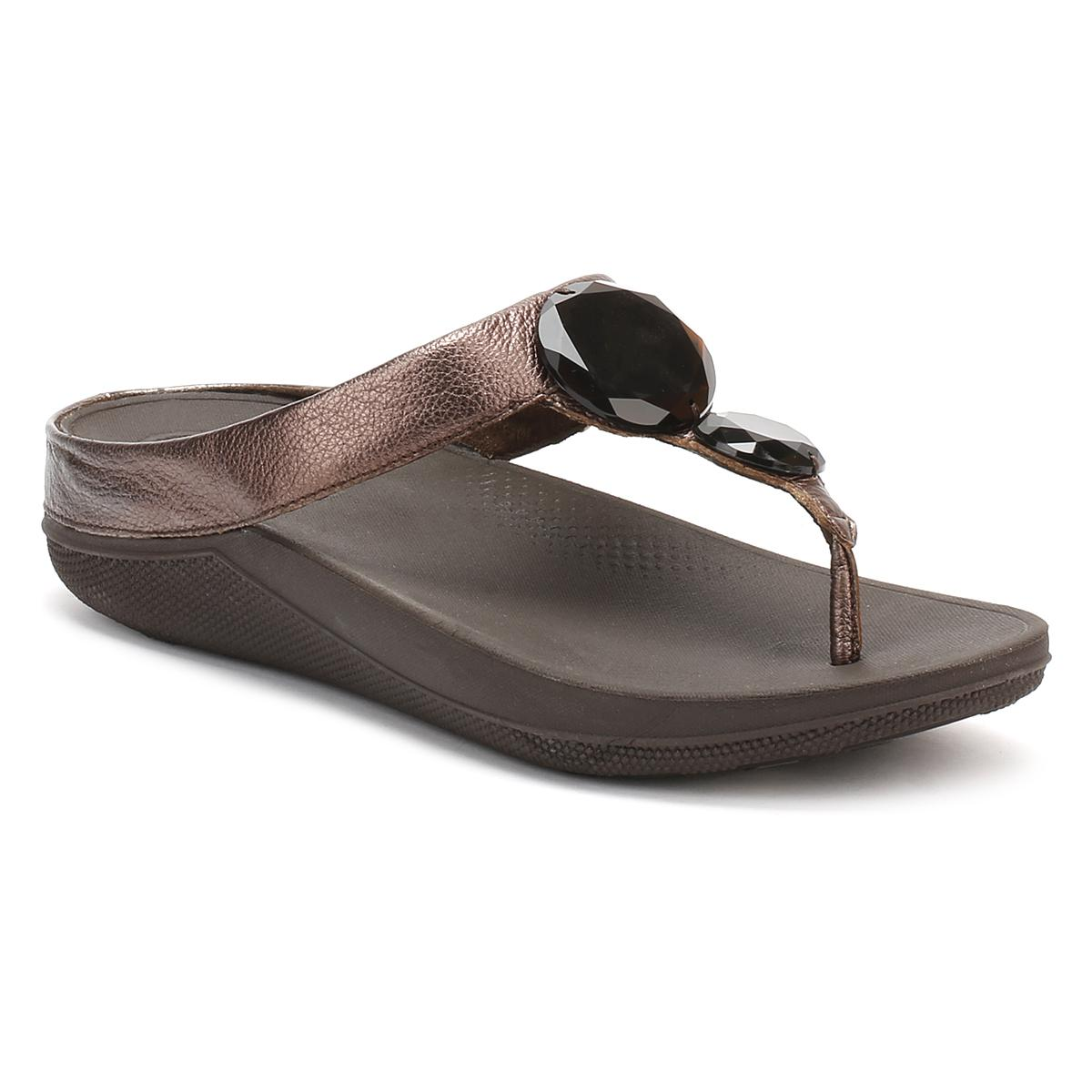 aa34fbc90fb274 Fitflop Womens Bronze Luna Pop Sandals in Brown - Lyst