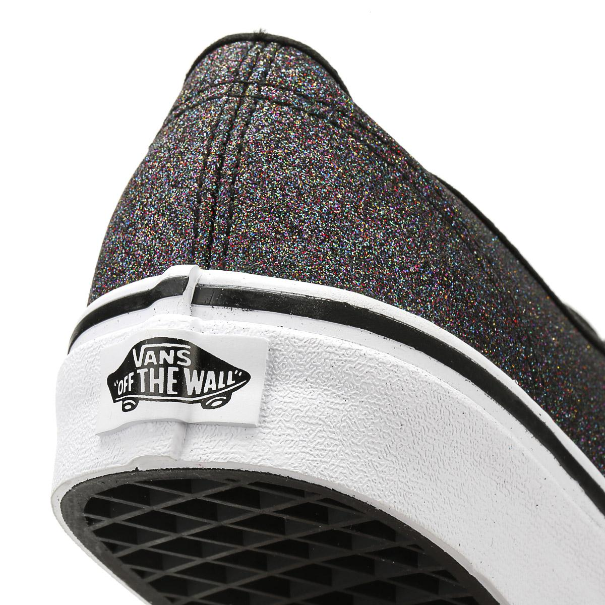 0532cd77508a Lyst - Vans Womens Glitter Rainbow Black Authentic Trainers in Black