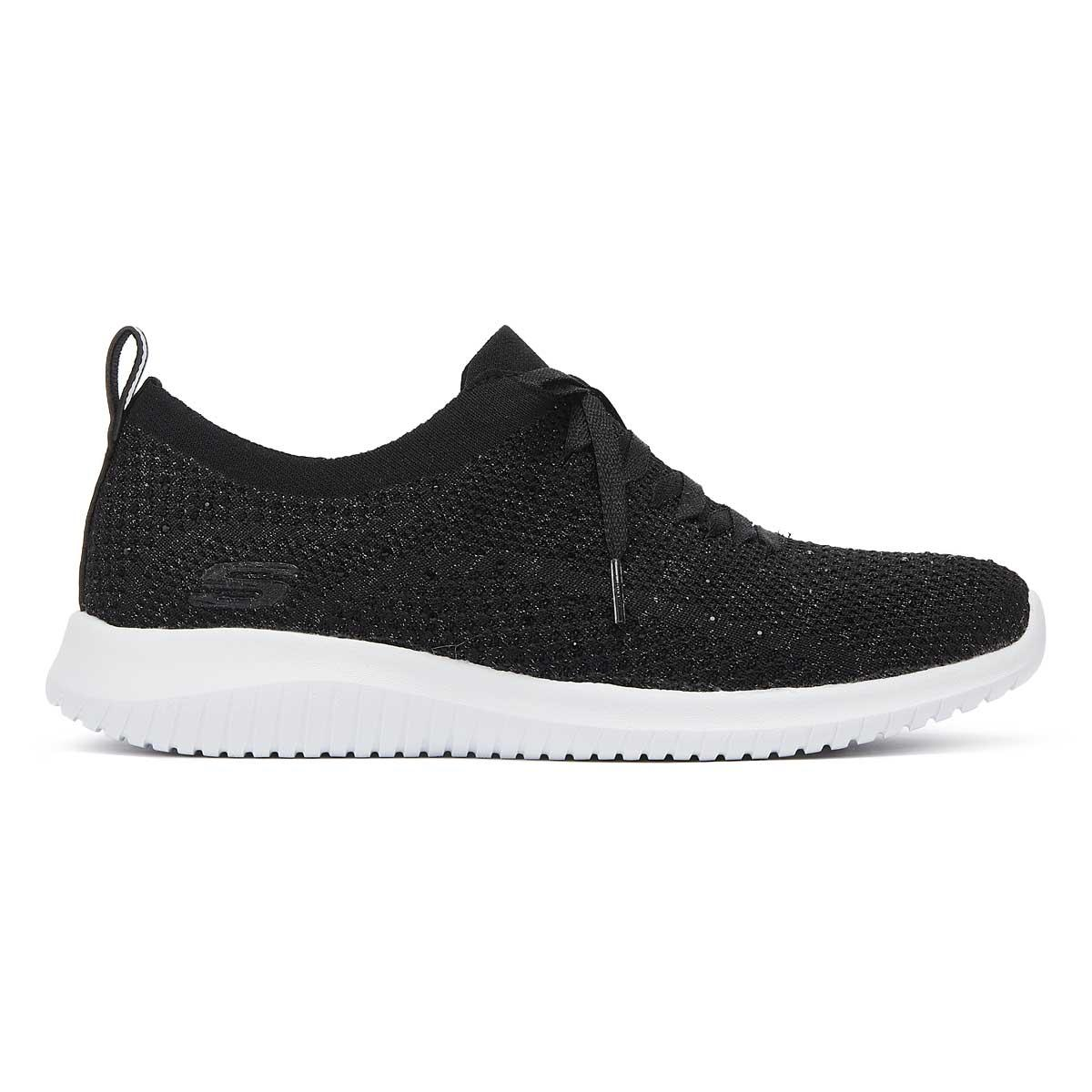 51a64b5e6cb4 Skechers - Ultra Flex Strolling Out Womens Black Trainers - Lyst. View  fullscreen