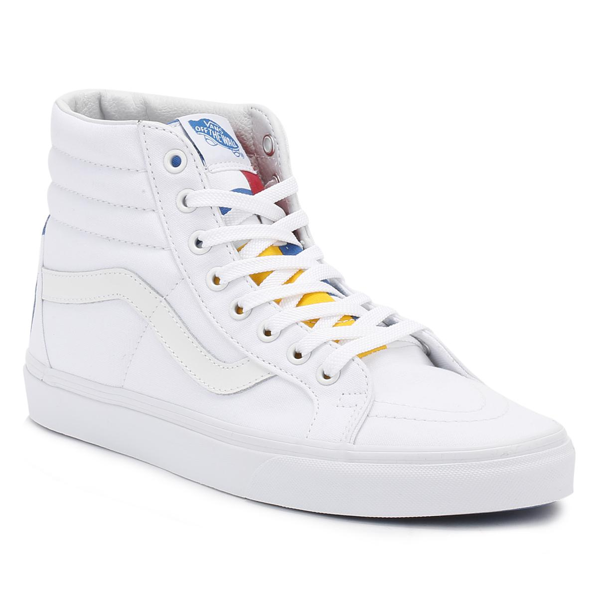 Lyst - Vans Mens 1966 True White blue red Sk8-hi Reissue Trainers in ... ff6477b50