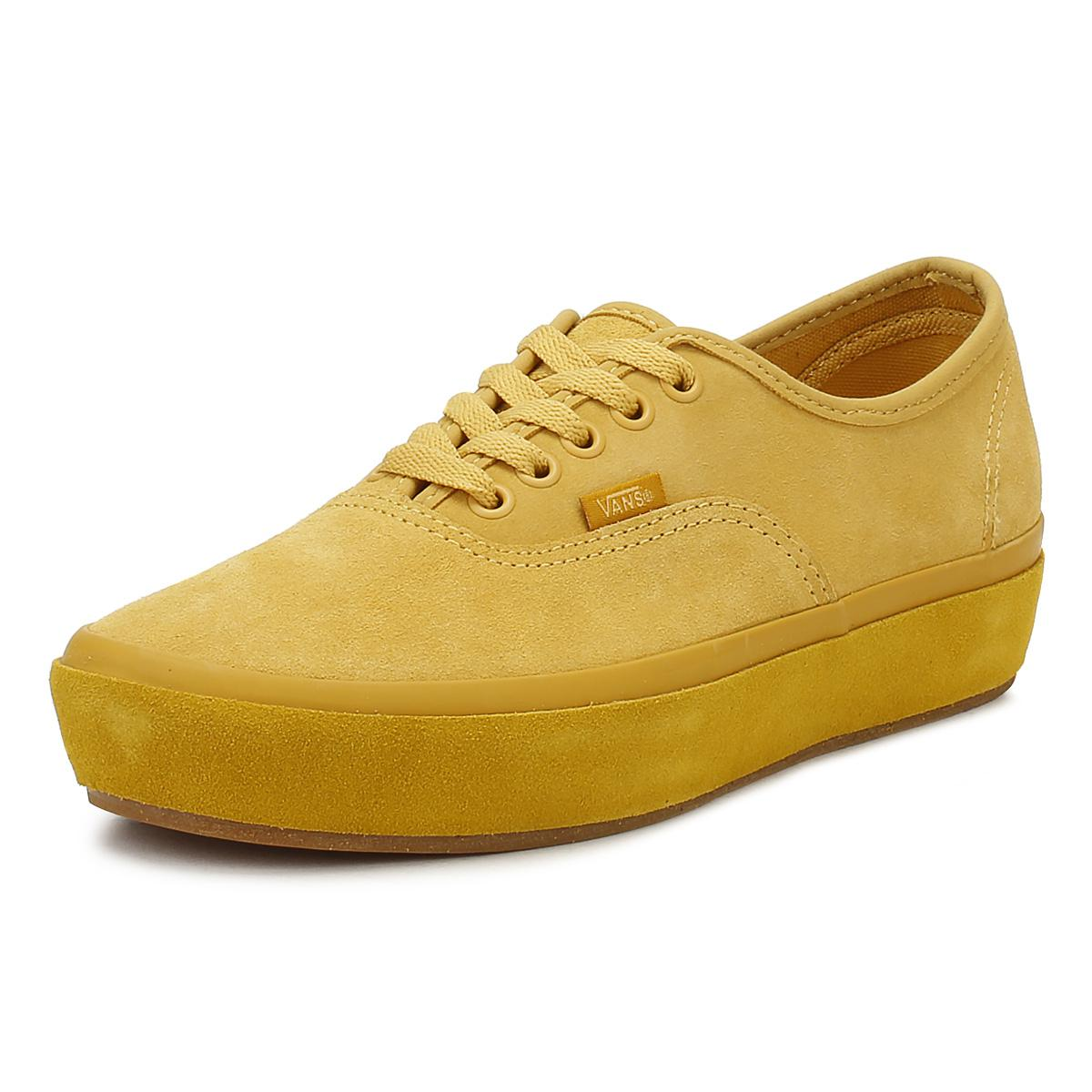 0f488be9ad1e Lyst - Vans Womens Ochre Yellow Authentic Platform Trainers in Yellow