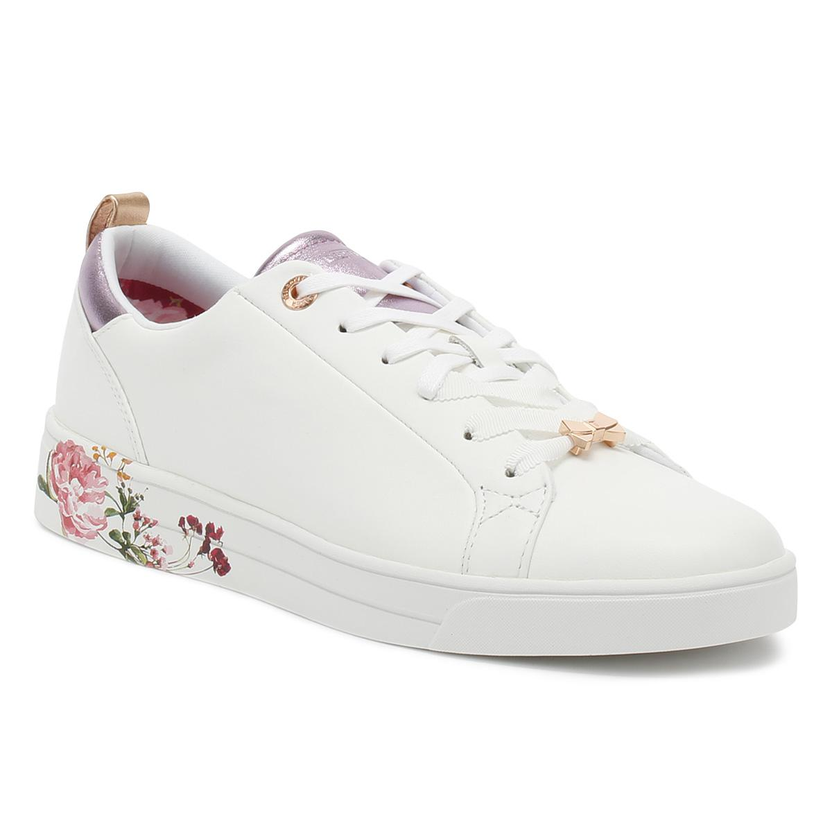 e799df619 Lyst - Ted Baker Womens White   Serenity Giellip Trainers Women s ...