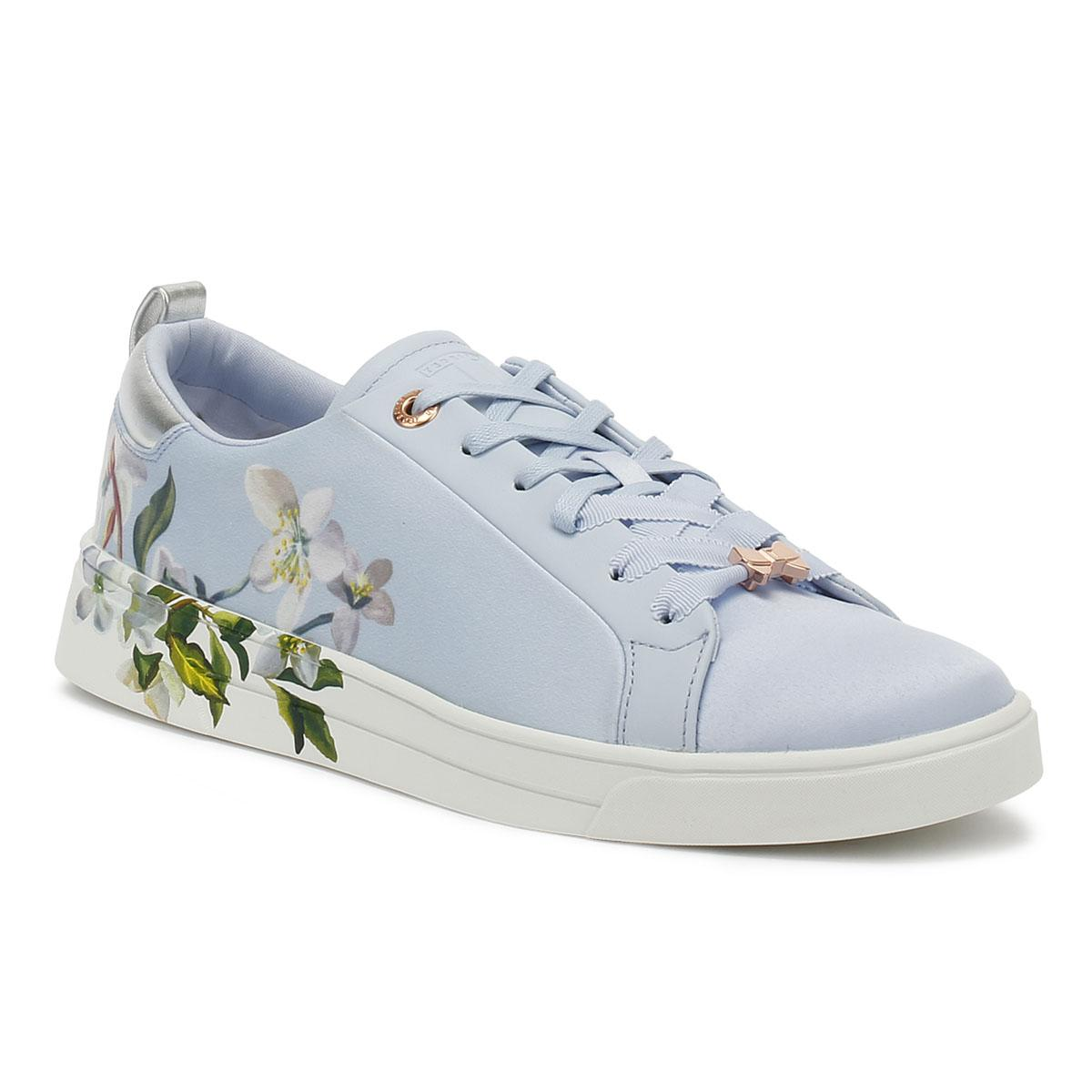 20962cd0f847 Ted Baker Orosa Womens Graceful Blue Satin Trainers in Blue - Lyst