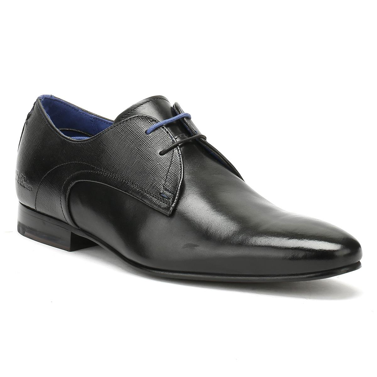 75a68e123baa12 Lyst - Ted Baker Mens Black Leather Peair Shoes in Black for Men
