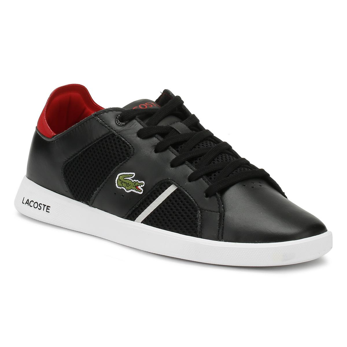 b5f41b8f8d43f Lacoste - Mens Black   Red Novas 218 1 Trainers Men s Shoes (trainers) In.  View fullscreen