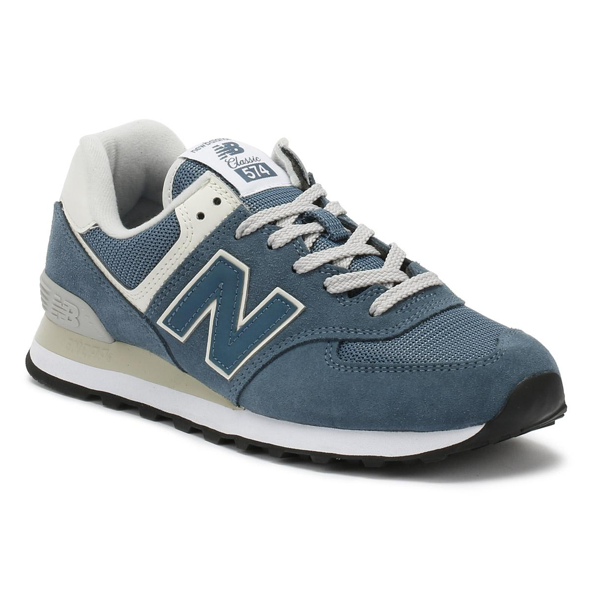 New Balance Womens Light Petrol Blue 574 Classic Trainers in Blue - Lyst dcd63aa28
