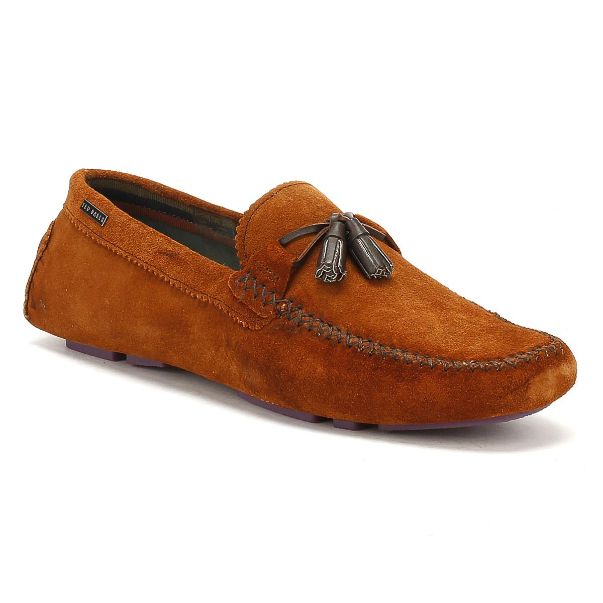 Mens Tan Urbonn Suede Shoes