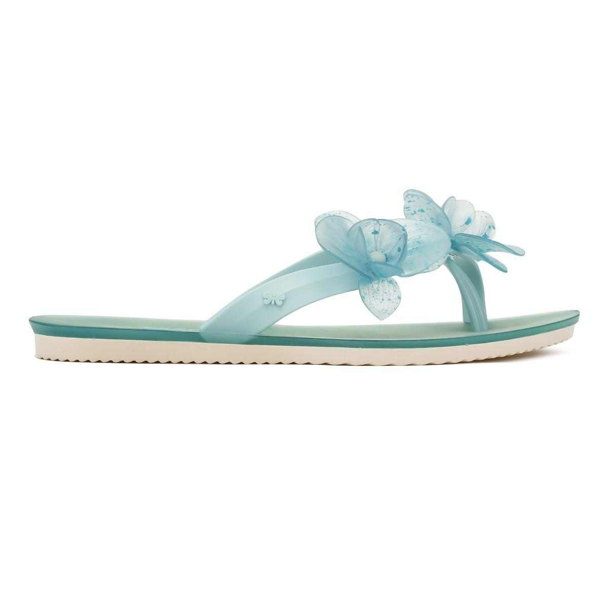 26cd636d2d5 Zaxy - Blue Womens Aqua Ice Flower Flip Flops - Lyst. View fullscreen