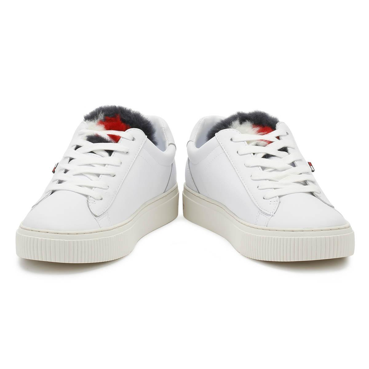 b8c7274e0 Lyst - Tommy Hilfiger Womens White Funny Fur Star Trainers Women s Shoes ( trainers) In Multicolour in White