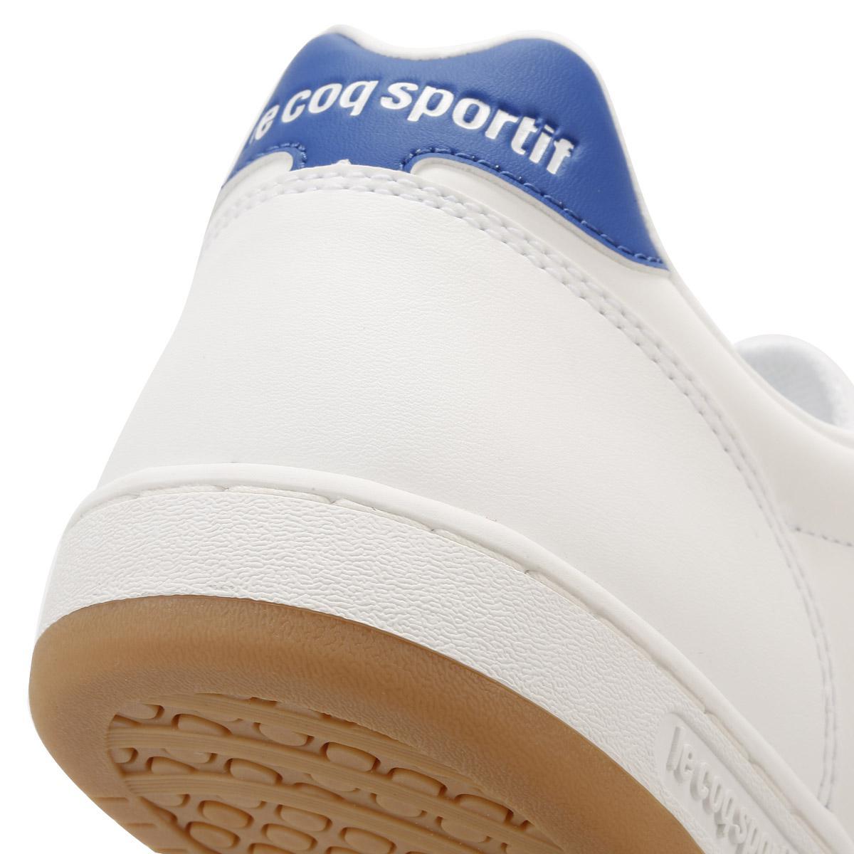 e8e80ce82603 Le Coq Sportif Mens Optical White   Classic Blue Icons Trainers in ...