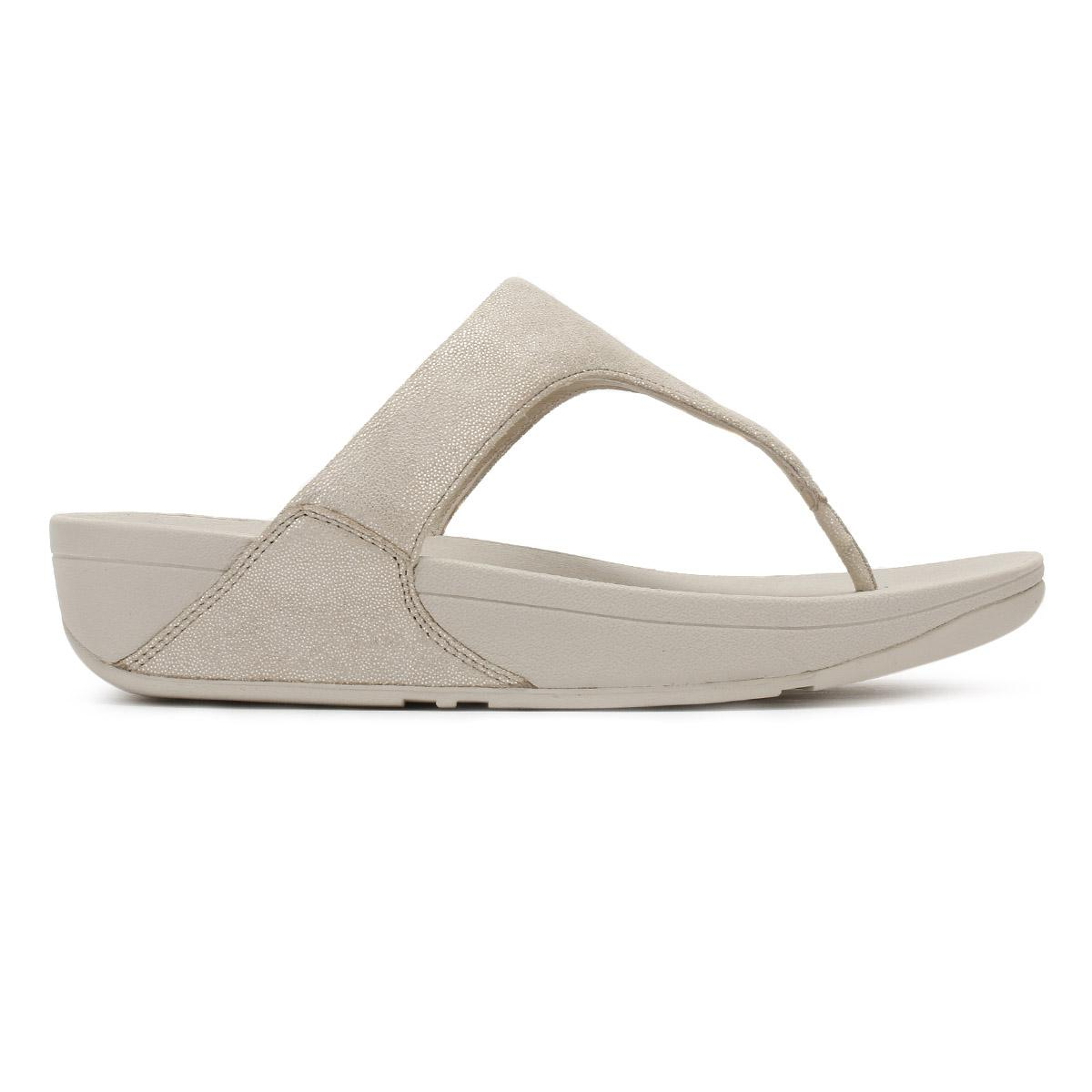 381cb3c23492 Lyst - Fitflop Womens Pale Gold Shimmy Suede Toe Post Sandal in Metallic
