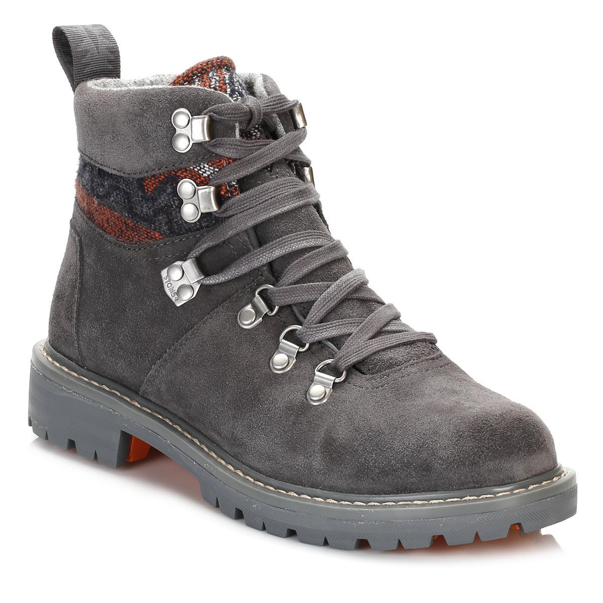 fbd15c3078d TOMS Womens Iron Grey Summit Hiker Boots in Gray - Lyst