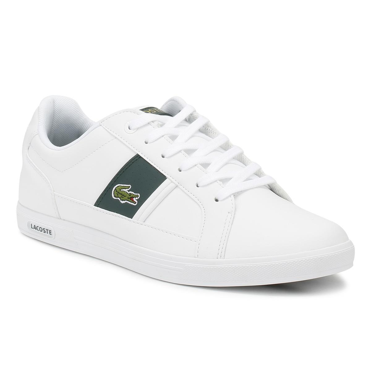 3d918dec1 Lyst - Lacoste Mens White   Dark Green Europa 118 1 Trainers in ...