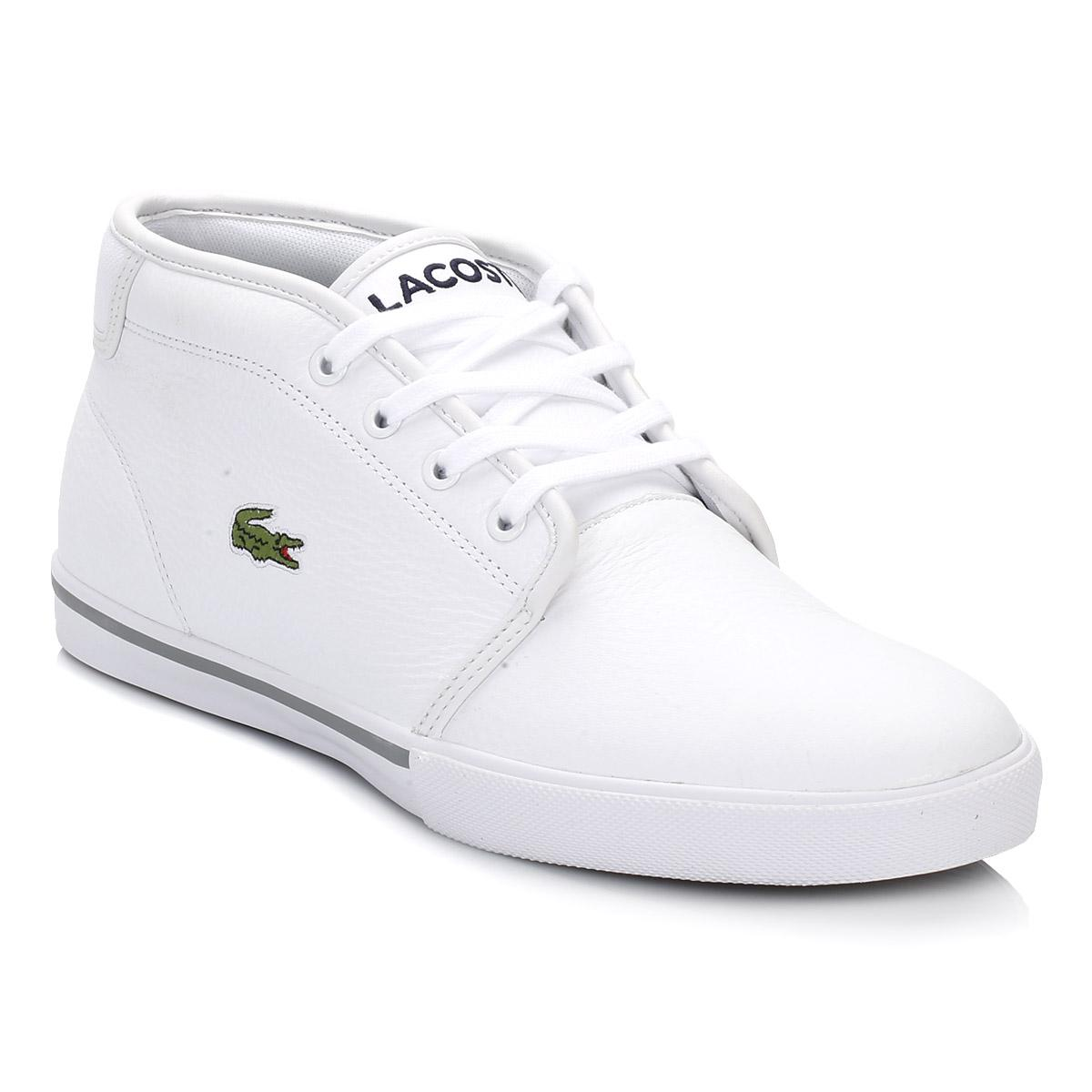 226413388 Lacoste Mens White Ampthill Trainers in White for Men - Save 52% - Lyst