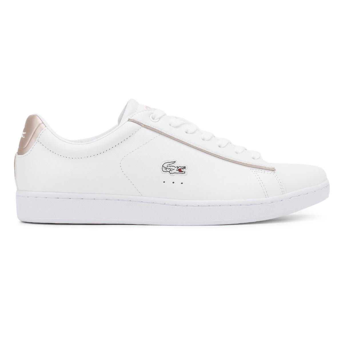a22d827b6925f Lacoste - Womens White light Pink Carnaby Evo 217 2 Spw Trainers - Lyst