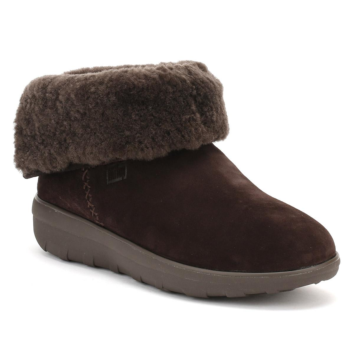 adc2a111b57329 Fitflop Womens Chocolate Dark Brown Mukluk Shorty Ii Boots in Brown ...