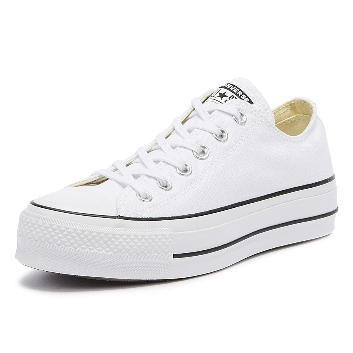 00138a1e3be995 Converse - Chuck Taylor All Star Lift Womens White Ox Trainers - Lyst. View  fullscreen