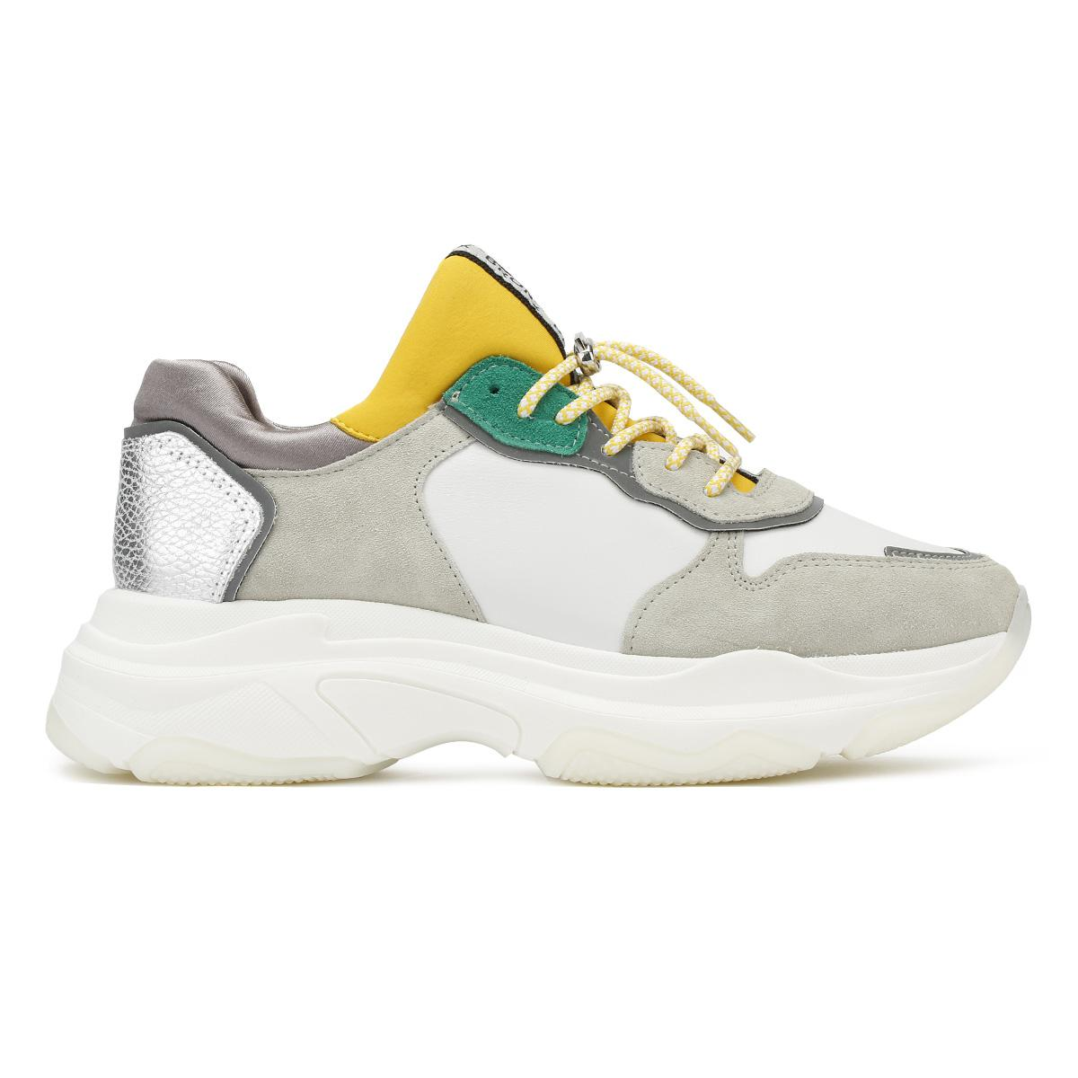 BronxTrainers - offwhite/turquoise/yellow Q4SF1i