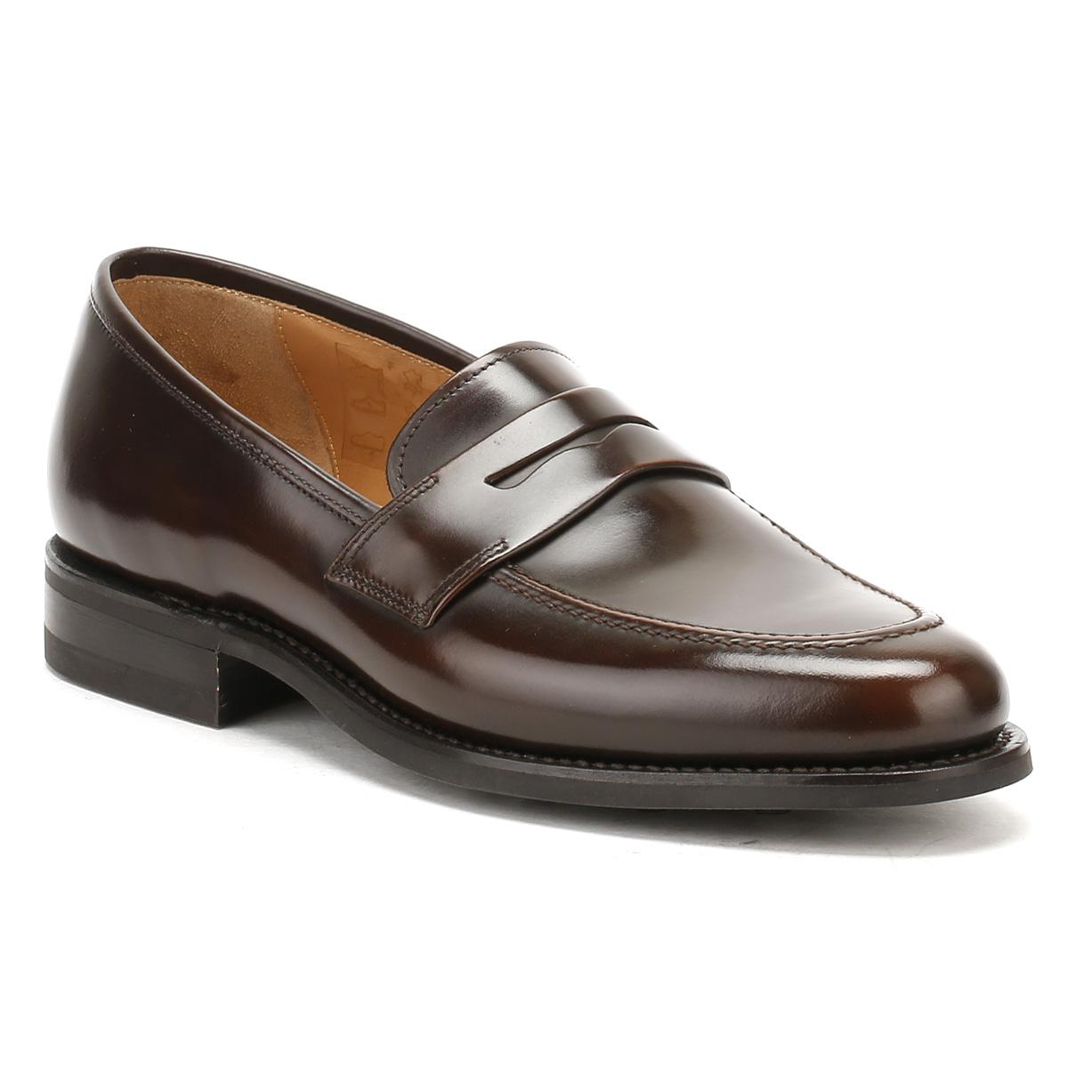 1ef9b5b52023 Loake Mens Dark Brown Leather 211 Loafers in Brown for Men - Lyst