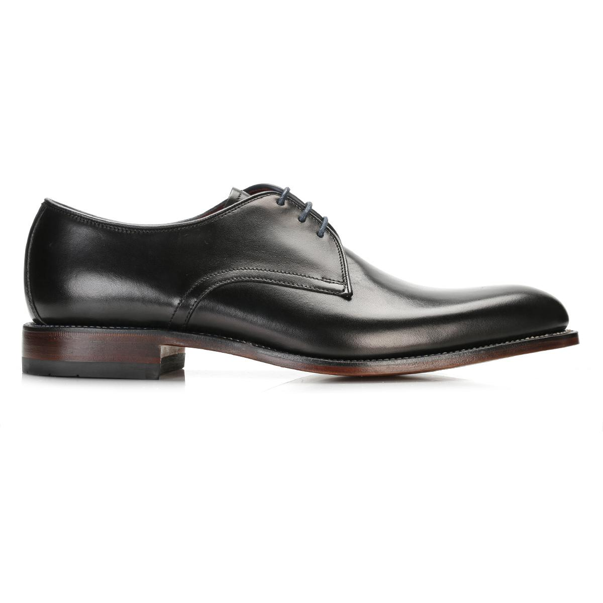 Mens Leather Shoes   H Fitting Black