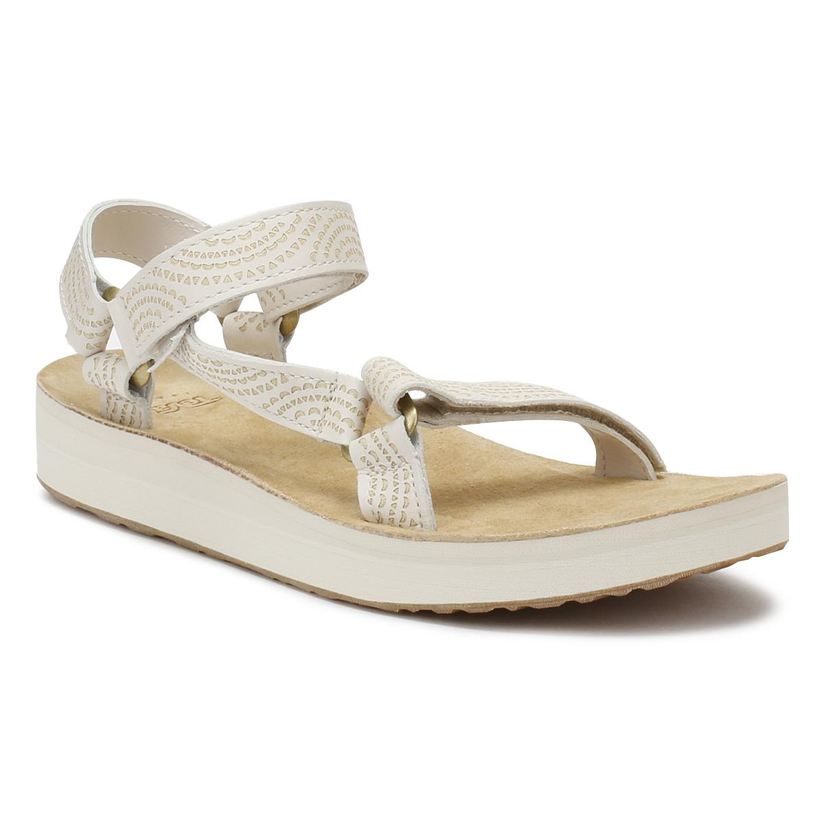 227b0812e Lyst - Teva Womens Birch Beige Midform Universal Geometric Sandals