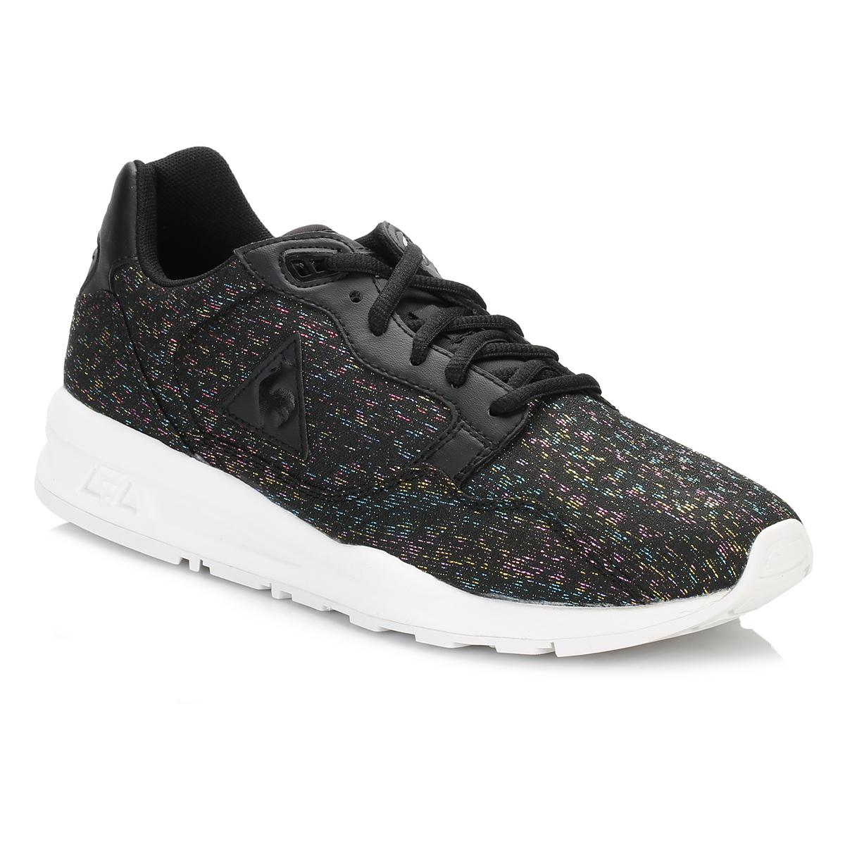 c581799f45c Le Coq Sportif Womens Black Lcs R900 Rainbow Jacquard Trainers in ...