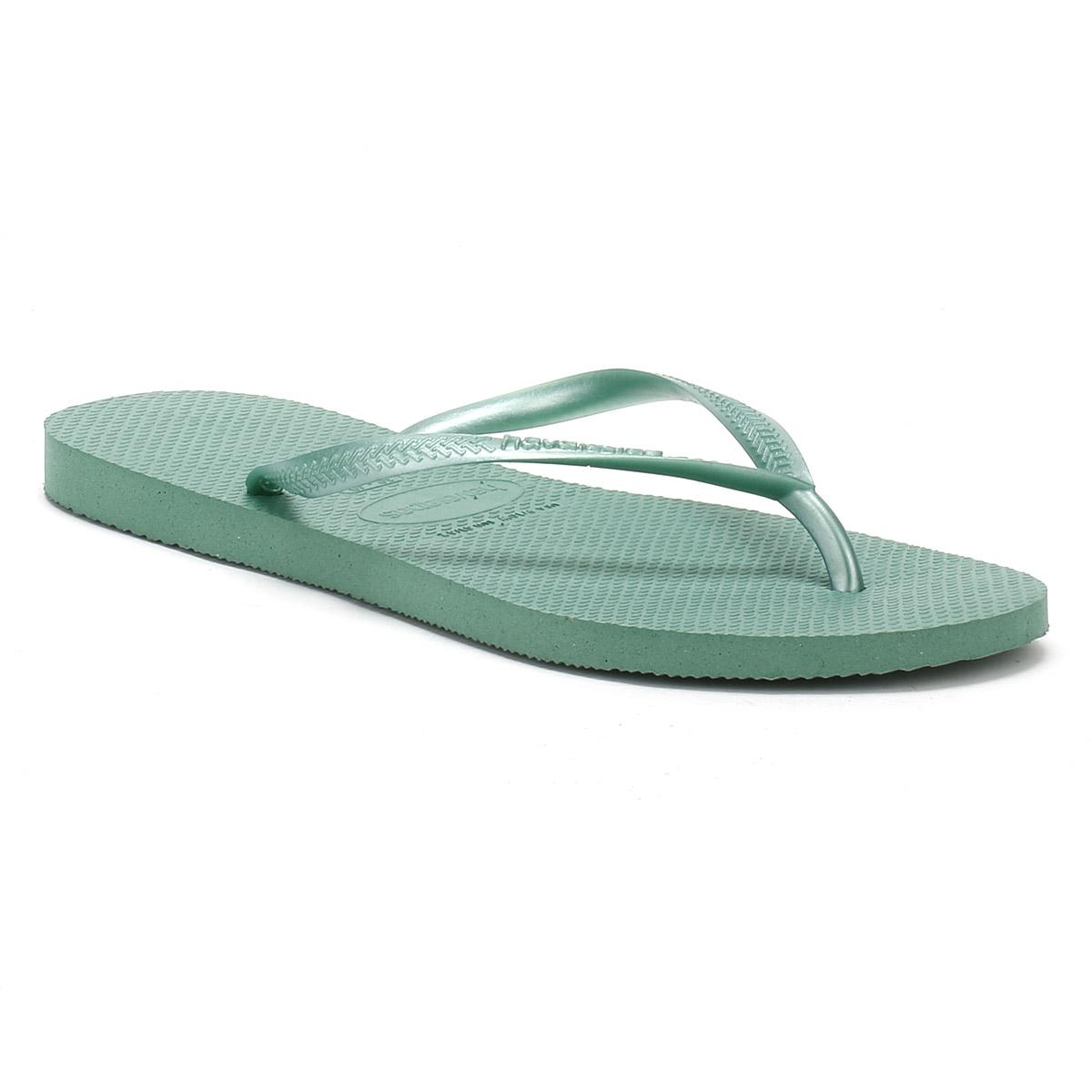 3fd262e2b981c Lyst - Havaianas Womens Green Tea Slim Flip Flops in Green