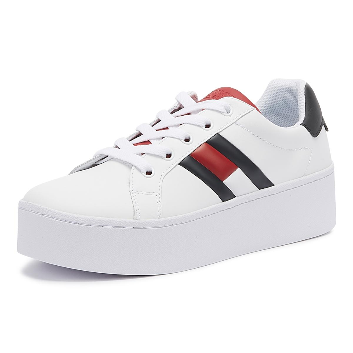 629a77a8c Tommy Hilfiger - White Tommy Jeans Icon Womens Rwb Trainers - Lyst. View  fullscreen