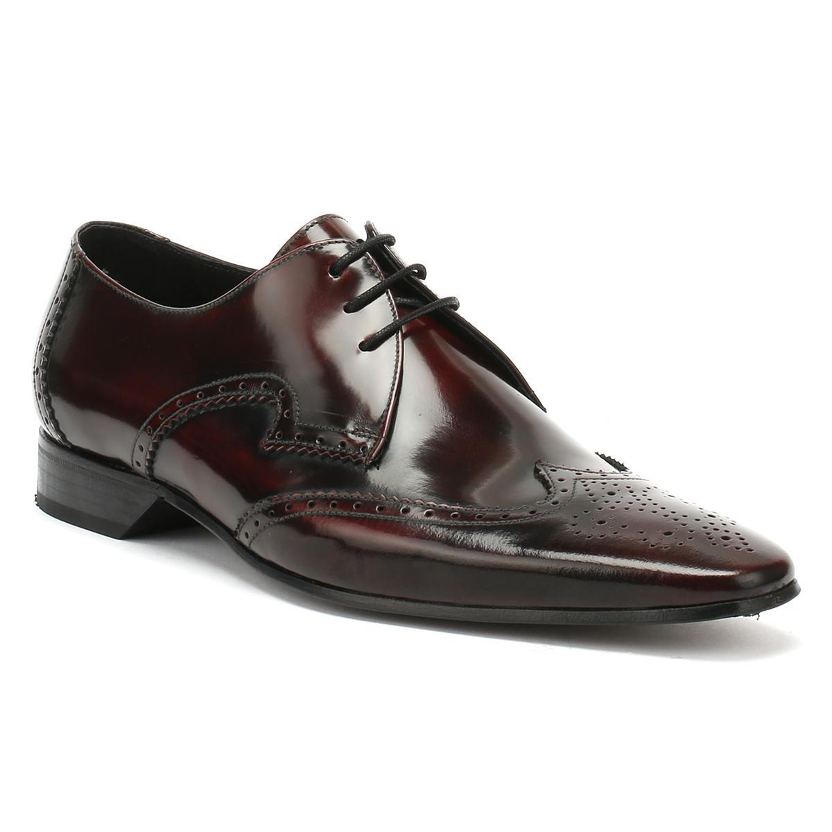 1e61a7f020 Lyst - Jeffery West Mens College Burgundy Escobar Brogue Derby Shoes ...