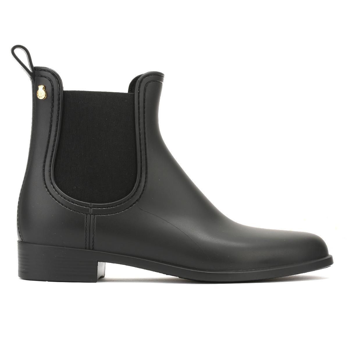 Womens Splash Chelsea Boots, Matte Black Lemon Jelly