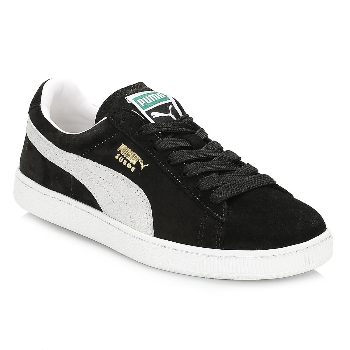 37fd73756bb Puma Mens Black Suede Classic Trainers in Black for Men - Save ...