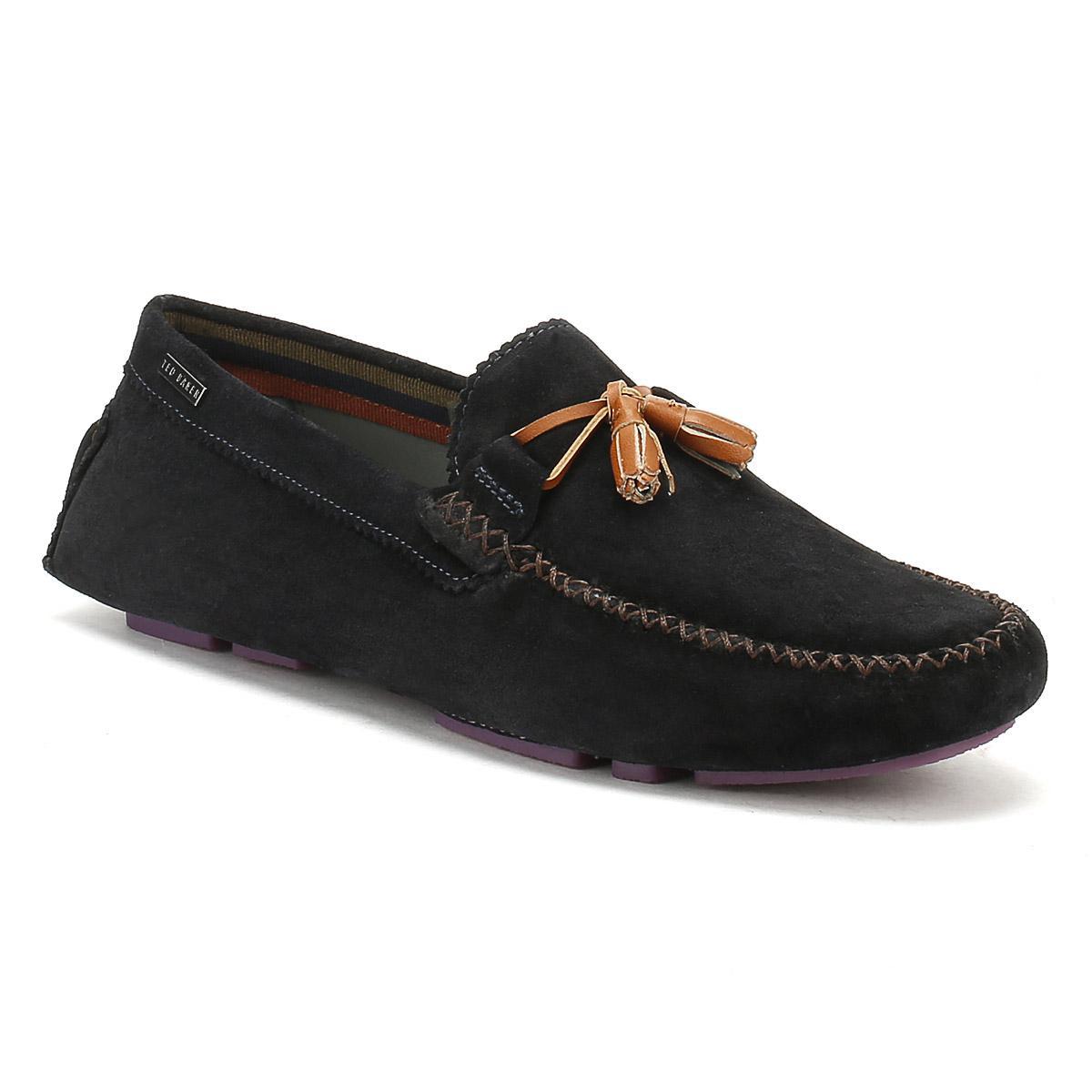 99761f6126e Ted Baker Mens Dark Blue Urbonn Suede Shoes in Blue for Men - Lyst