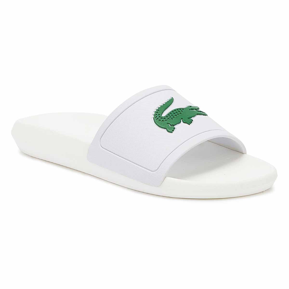 b75b21b2d Lyst - Lacoste Croco 119 1 Mens White   Green Slides in White for Men